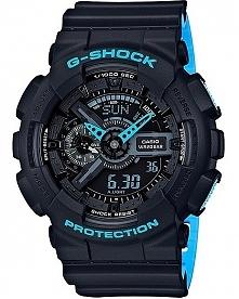 CASIO G-SHOCK GA-110LN-1AER to męski zegarek sportowy zasilany baterią. Posiada wytrzymałą kopertę odporną na uderzenia i wstrząsy wykonaną z tworzywa. Czasomierz jest wodoodpor...