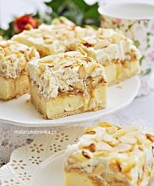 Ciasto krówka budyniowa na krakersach z bananami. Przepis po kliknięciu w zdj...