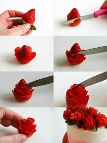 róże z truskawek