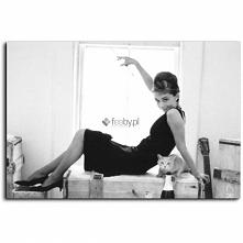 Audrey Hepburn 5, Obraz na płótnie - Canvas