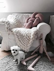 Zdjęcie nadesłane przez naszą klientkę >>> Poduszka supeł - pudrowy ...