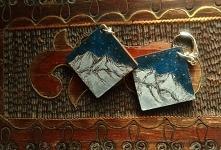 Ręcznie malowane inspirowane górskimi wędrówkami ;) akryl na drewnie