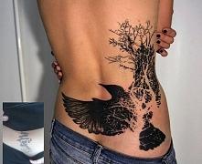 lower back tattoo crow