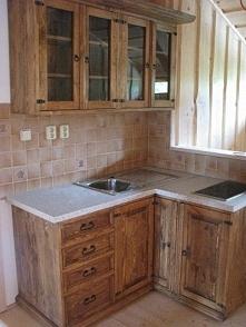 drewniana kuchnia sosnowa w...