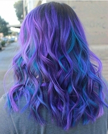 purple blue hairstyle