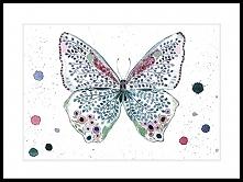 Motyl deco, 21x30 cm, A4