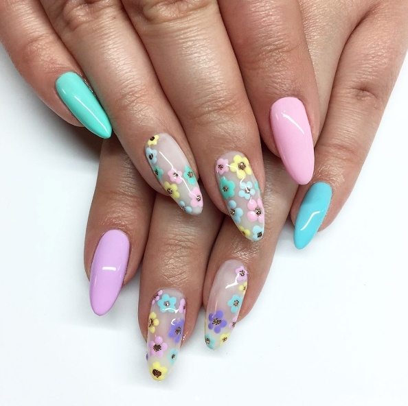 Wiosenne paznokcie hybrydowe od Neonail. Lubicie takie połączenia? :)