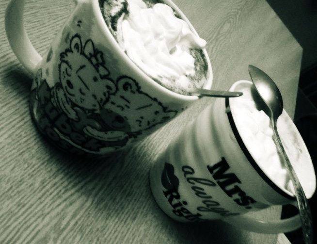 coffee time with sister!:)