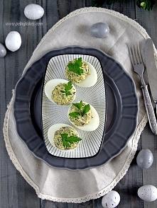 Jajka faszerowane pieczarkami   Przepis na blogu, wystarczy kliknąć w zdjęcie lub skopiować link z komentarza. Zapraszam :)