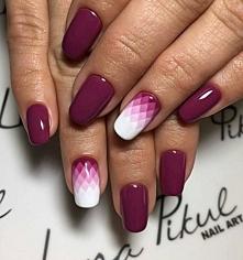 Geometryczne ombre na paznokciach > zobaczcie zdjęcia