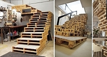 Niezwykłe meble i dodatki z palet - schody