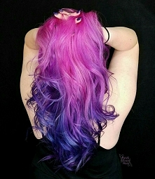 pink blue ombre hair