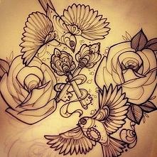 gołębie róże klucze