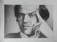 Mój najnowszy rysunek - Jack Nicholson (mam nadzieję, że można poznać) :D Zapraszam do obserwowania mnie na fb i insta: Ren Skonhet