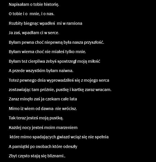 Niesamowity Wiersz Na Ulubione Zszywkapl