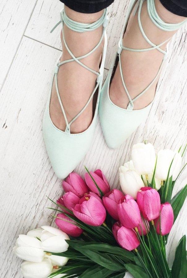 Cudowne balerinki w miętowym kolorze w atrakcyjnej cenie !  Sprawdź na ivon-sklep.pl @ivon-sklep
