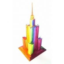 Witajcie,   Dziś będziemy malować Pałac Kultury w Warszawie:)  Można go pomalować farbami w dowolne kolory, bez limitu.   Pałac do samodzielnego składania w wersji mini dla dzie...