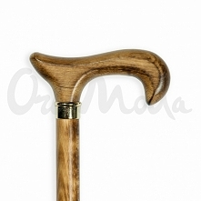 Laska inwalidzka Kuba w całości wykonana z drewna. Uchwyt typu Derby, wygodny i oddzielony od trzonu widocznym złotym pierścieniem. Trzon solidny, niezbyt gruby, o bogatym, szla...