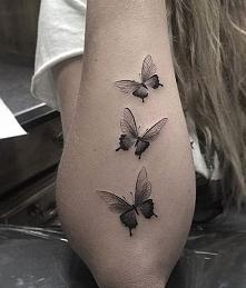 motyle tatuaże