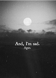 Znowu jestem smutna. Mimo że jest słońce, które mnie miło ogrzewa ja chcę mok...