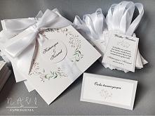 zaproszenie ślubne z delika...