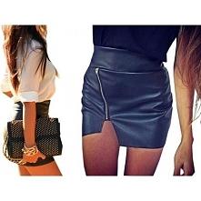 Skórzane spódniczki zawsze w modzie.
