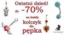Ostatnie godziny wiosennej promocji! Kolczyki do pępka do -70% . Iron-lady.pl - sklep z piercingiem Link w komentarzu :)