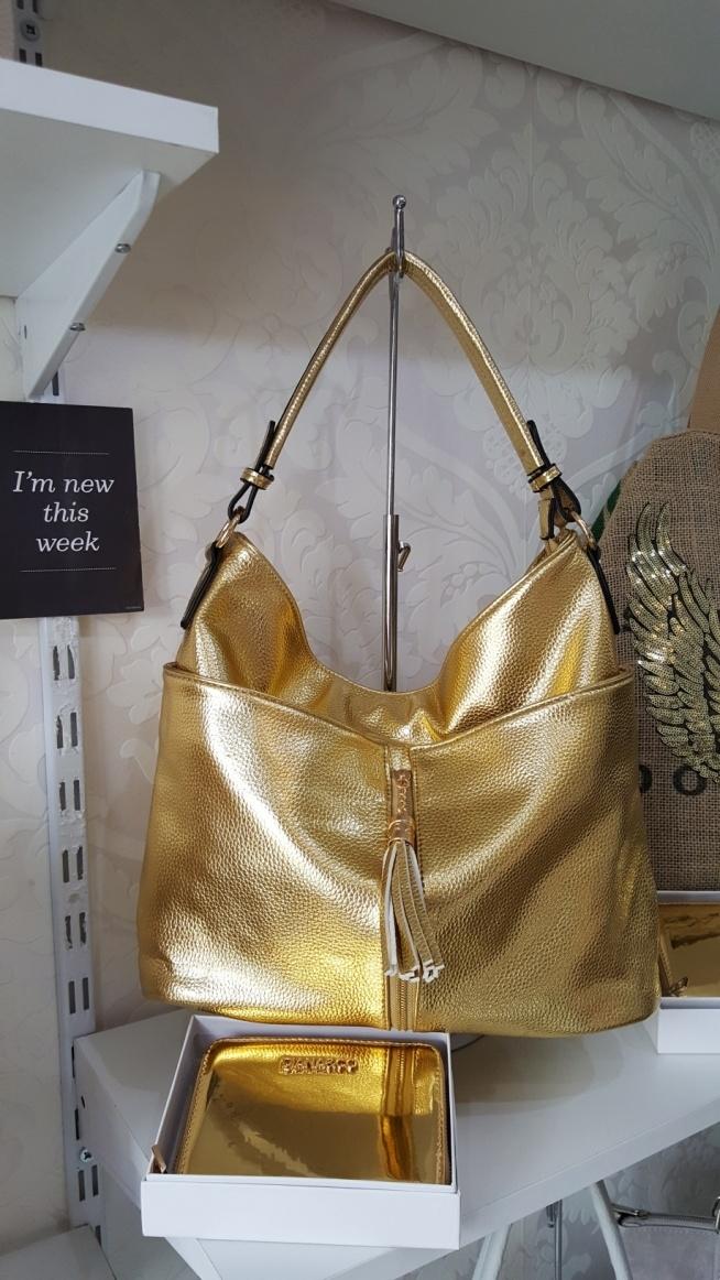 torebka złota skóra eko Fb Atelier Torebek wysyłka 24h na