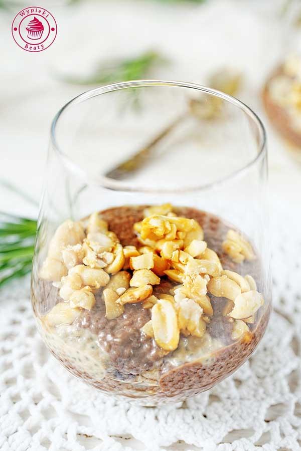 Pudding chia czekoladowo-orzechowy - Wypieki Beaty