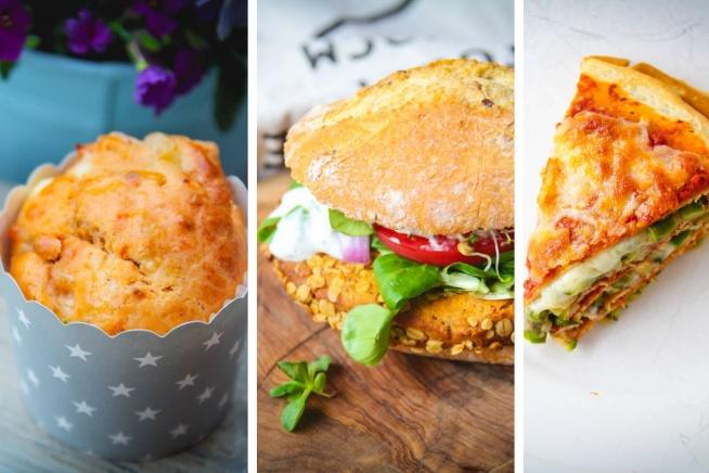 Niosę Wam trzy pyszne i szybkie przepisy na długi weekend :) [Torcik warzywny, burgery z ciecierzycą, wytrawne muffiny]