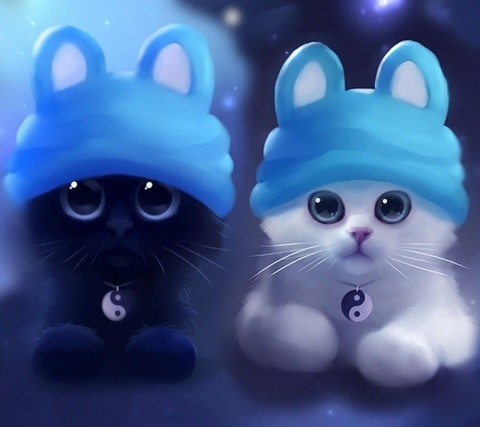 Czarny  to Leon  a biały  to Luna