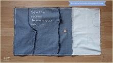 Dżinsowa torba na magnes tutorial krok po kroku