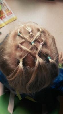 fryzura weselna dla małej księżniczki