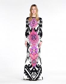 EMILIO PUCCI Royal Print Maxi Dress Pink Black