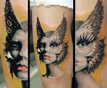 makeup tattoo on leg