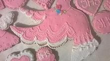 Piernik, gołąbek różowy, koronkowy. Idealny dla dziewczynki na komunię.