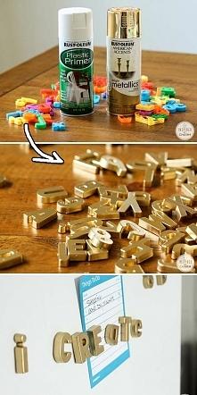Magnesy machnięte na złoto.