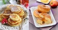 Placki z jabłkami na 3 sposoby. 1. Placki z jabłkami z nutą wanilii. Składniki: 1,5 szklanki mąki, 3 jajka, łyżeczka ekstraktu z wanilii, łyżka brązowego cukru, szklanka mleka, ...