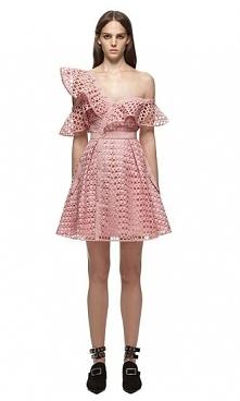 Self Portrait Lace Frill Mini Dress Pink