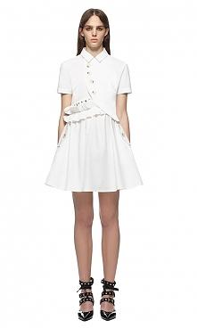 Self Portrait Button Shirt Dress White