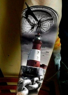 tatuaż latarnia morska