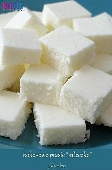 """Kokosowe ptasie """"mleczko"""" w wersji jogurtowej 400g jogurtu naturaln..."""