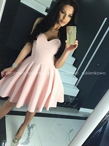MENRIN rozkloszowana gorsetowa sukienka różowa