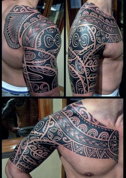 Tatuaże Męskie Na Pierś I Ramie Na Tatuaże Zszywkapl
