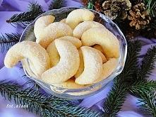 Rogaliki budyniowe. Składniki: Ciasto 220 g mąki pszennej typ 500  110 g mięk...