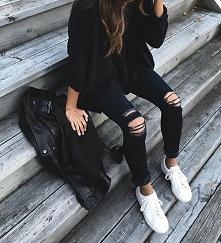 Wiosenna stylizacja w kolorach black&white - LINK W KOM!