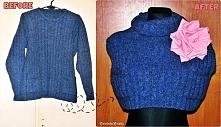 Przeróbka swetra Diy