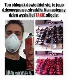 Zdrada nie popłaca   malowanie butów farbą