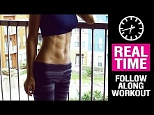 Set your abs on fire!! 6-pack abs workout for women - REAL TIME -------------...