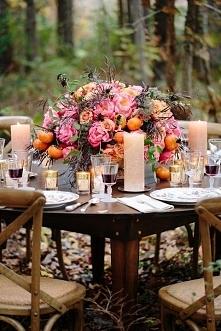 jesienny obiad w ogrodzie
